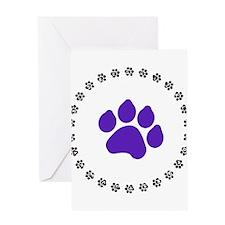 Blue Paw Print Greeting Card