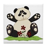 Panda Bear Hug Tile Coaster