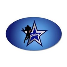Dallas Cowboys 22x14 Oval Wall Peel