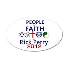 Perry Faith 2012 38.5 x 24.5 Oval Wall Peel