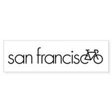 Bike San Francisco Bumper Sticker