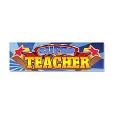 Super Teacher Car Magnet 10 x 3