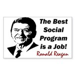 """Reagan: Get A Job!"" Sticker (Rectangle)"