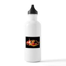 Illuminated Flowers Sports Water Bottle