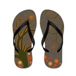 Whimsical Tree Flip Flops