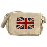 Union Jack flying flag Messenger Bag