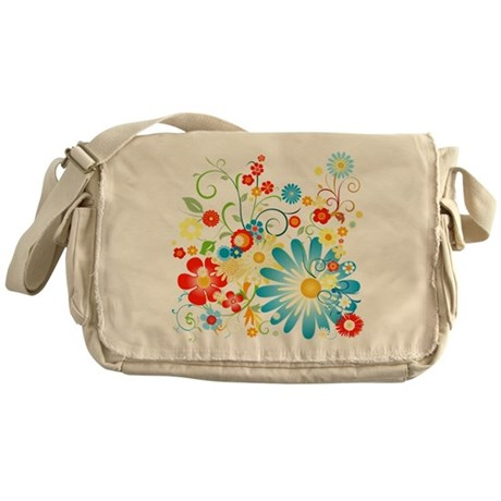 Floral explosion of color Messenger Bag