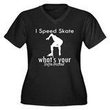 I Speed Skate Women's Plus Size V-Neck Dark T-Shir