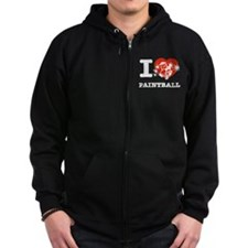 I love Paintball Zip Hoodie