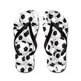 Soccer Ball Flip Flops