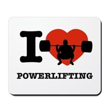 I love Power lifting Mousepad