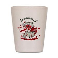 Zombie Kitty Shot Glass