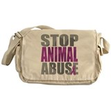 Stop Animal Abuse(Paw) Messenger Bag