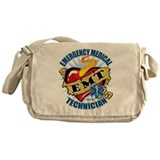 EMT Classic Heart Tattoo Messenger Bag