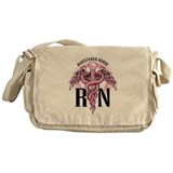 RN Caduceus Pink Messenger Bag