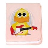 Electric Guitar Duck baby blanket