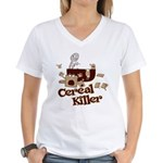Cereal Killer Women's V-Neck T-Shirt