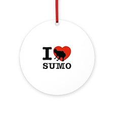 I love Sumo Ornament (Round)