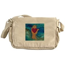 Heart in Hand Messenger Bag