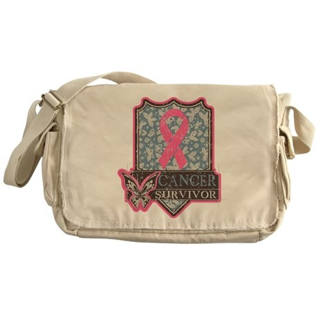 Breast Cancer Survivor Artsy Messenger Bag