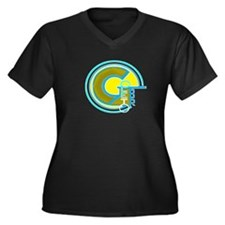 Gilberto Women's Plus Size V-Neck Dark T-Shirt