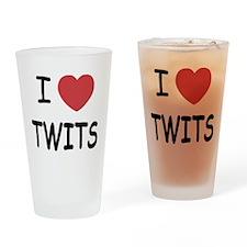I heart twits Drinking Glass