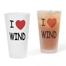 I heart wind Drinking Glass