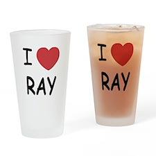 I heart ray Drinking Glass