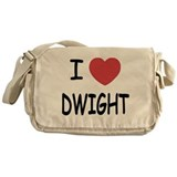 I heart dwight Messenger Bag