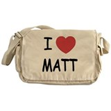 I heart Matt Messenger Bag