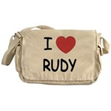 I heart Rudy Messenger Bag