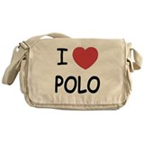 I heart polo Messenger Bag