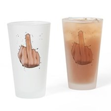 fuck you finger Drinking Glass