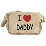 I heart Daddy Messenger Bag