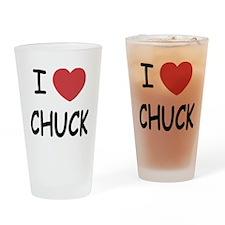 I heart Chuck Drinking Glass