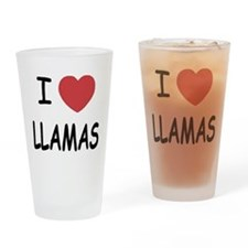I heart llamas Drinking Glass