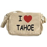 I heart Tahoe Messenger Bag