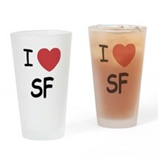 I heart SF Drinking Glass
