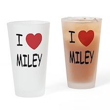 I heart miley Drinking Glass
