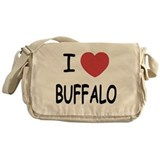 I heart buffalo Messenger Bag