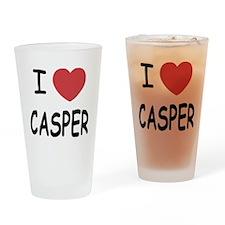 I heart Casper Drinking Glass