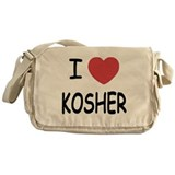 I heart kosher Messenger Bag