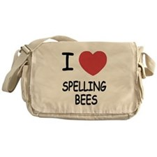I heart spelling bees Messenger Bag