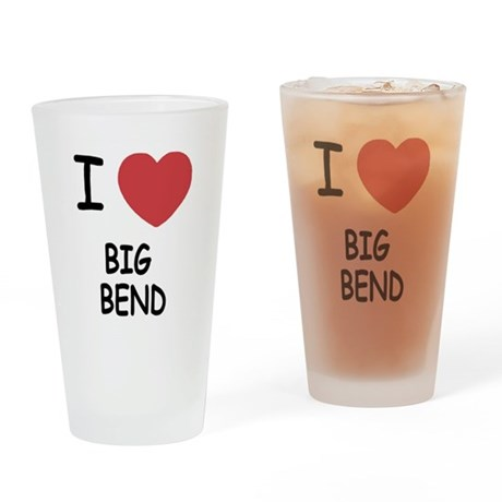 I heart big bend Drinking Glass