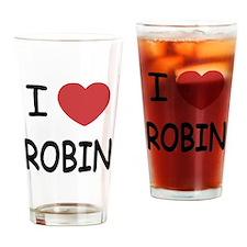 I heart robin Drinking Glass