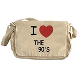 I heart the 90's Messenger Bag