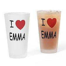 I heart emma Drinking Glass