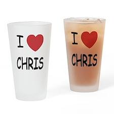 I heart chris Drinking Glass