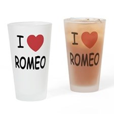 i heart romeo Drinking Glass