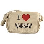 I heart warsaw Messenger Bag
